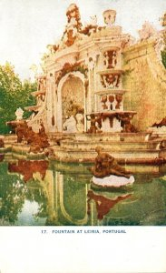 Portugal Fountain At Leiria 1909