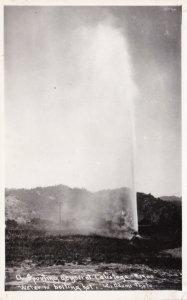 Arizona Spouting Geyser At Calistoga Real Photo