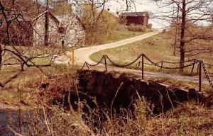 Finland Tenala Trollshofda nedlagda Bruk Des valvda bron over bruksan kolmilor