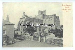 cu2493 - Early Cartmel Priory Church, at Grange-over-Sands, Lancs - Postcard