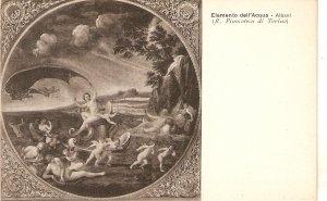 Albani. Elemento dell'Aqua Fine art, painting, vintage Italian postcard