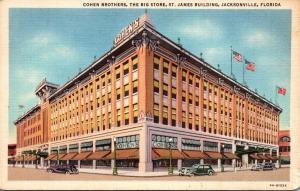 Florida Jacksonville Cohen Brothers Department Store Curteich