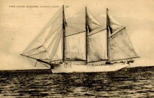 Three-Masted Schooner, Atlantic Coast