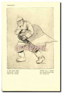 Old Postcard Army Orphans of War Is It Me Of Something Annexation Belgia