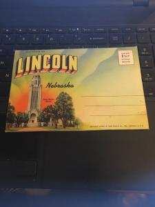 Vintage Picture Postcard Book: 1941 Souvenir of Lincoln Nebraska, 18 Views