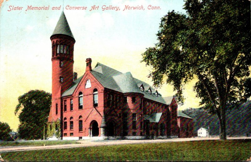 Connecticut Norwich Slater Memorial and Converse Art Gallery 1910