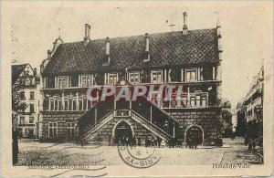 Old Postcard Mulhouse (Haut Rhin) City Hotel