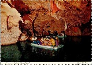 Underground Lake Green Grotto Runaway Bay Jamaica vintage postcard