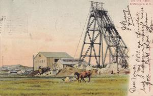 On The Rand Driefontein Gold Mine Miners South African Postcard