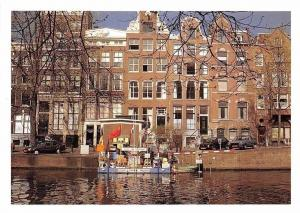Netherlands Amsterdam River Boat Street Cars Voitures