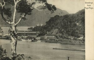 PC CPA SAMOA, PACIFIC, GREETINGS FROM PAGO PAGO, Vintage Postcard (b19476)