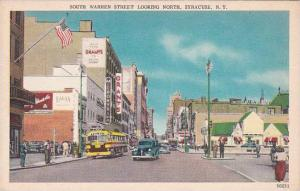 New York Syracuse South Street Looking North 1951