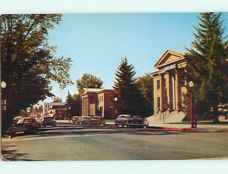 Unused Pre-1980 OLD CARS & COURT HOUSE Carson City Nevada NV v5537