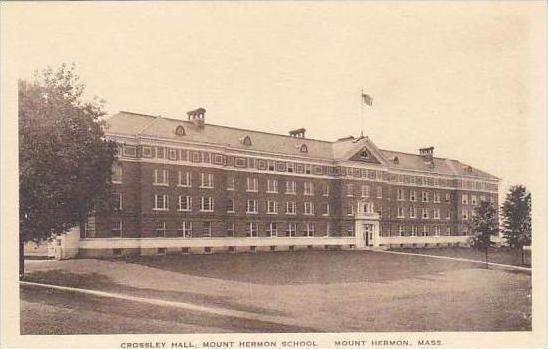Massachusetts Mount Hermon Crossley Hall Mount Hermon School