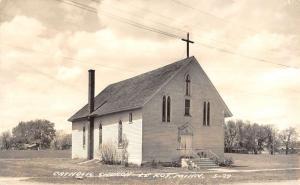 Le Roy Minnesota Catholic Church Real Photo Antique Postcard K20807