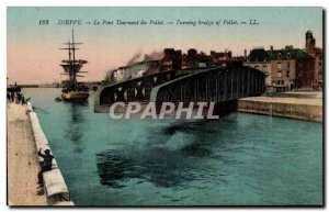 Dieppe - The Swing Bridge Pollet - Postcard Old Bridge