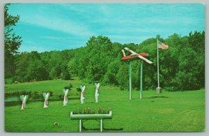 Lopez Pennsylvania~Restview Park~Miniature Airplane~Decorative Missiles~1960s