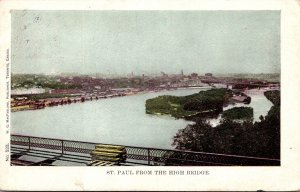 Minnesota St Paul View From The High Bridge 1905