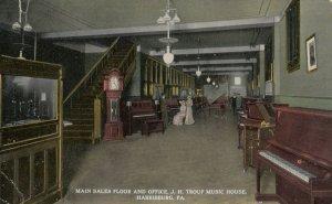 HARRISBURG , Pennsylvania, 00-10s , Interior , H. Troup Music House