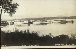 Ortonville MN Boat Landing c1910 Real Photo Postcard