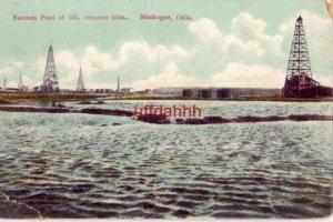 EARTHEN POOL OF OIL, 100,000 bbls. MUSKOGEE, OK1918