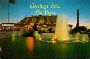 Nevada Las Vegas Greetings Showing Circus Circus At Dusk