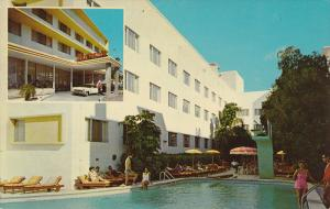 Swimming Pool, Entrance to Fontana Hotel, MIAMI BEACH, Florida, 40-60´