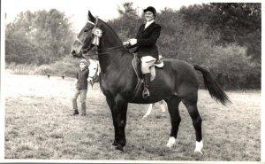 Horse Sport Horse Rider RPPC 03.00