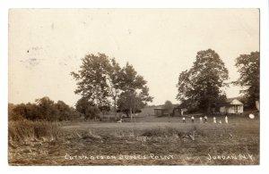 1913 JORDAN NEW YORK RPPC COTTAGES ON JONES POINT POSTCARD FLOYD MOORE EARL MANN