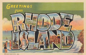RHODE ISLAND , 1930-40s ; Large Letter