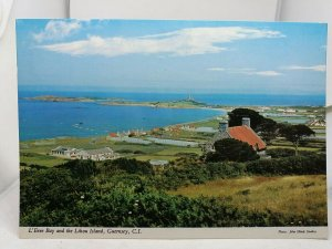 Vintage Postcard L'Eree Bay and the Lihou Island Guernsey Channel Isles