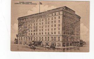 circa 1920 postcard, Hotel london, London, Ontario, canada
