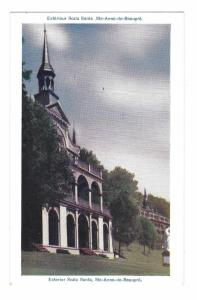 Ste Anne de Beaupre Scala Santa Chapel Holy Stairs Quebec Canada Vntg Postcard