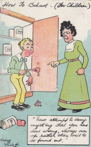 Jam In Cupboard How To Behave Harry Parlett Comic Postcard