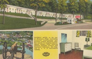 CHATTANOOGA , Tennessee, 1930-1940s;  Gateway Motel on the side of Missionary...