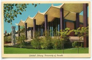 Getchell Library University Nevada Reno postcard