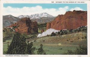 Colorado Colorado Springs Gateway To The Garden Of Gods Curteich