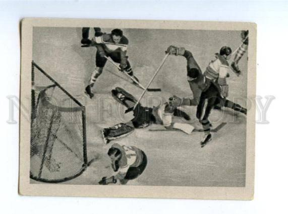 166954 VII Olympic ICE-HOCKEY Italy Austria CIGARETTE card