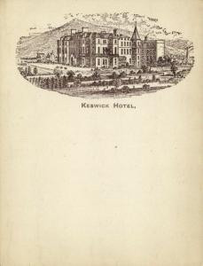 cumbria, KESWICK, Hotel (1899) Court Card