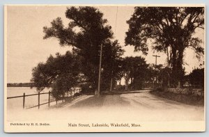 Wakefield Massachusetts~Main Street~Lake Quannapowitt Drive~HE Butler Pub~1905