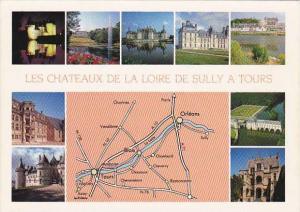 Les Chateaux De La Loire De Sully A Tours France Multi View