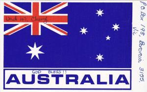 Australia Flag QSL Radio Card, 1980