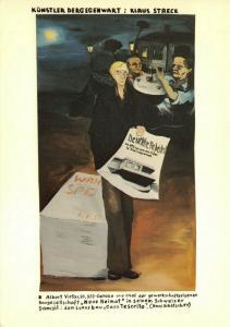 Art Postcard, Kunstler der Gegenwart: Klaus Staeck (1975) Jorg Immendorff 72U