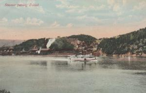 Steamer passing Pokiok on Saint John River - New Brunswick, Canada
