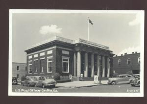 RPPC GRIFFIN GEORGIA 1940's CARS UNITED STATES POST OFFICE VINTAGE POSTCARD