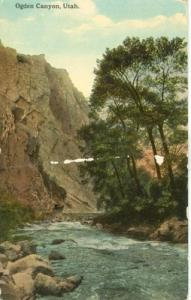 Ogden Canyon, Utah, 1916 used Postcard