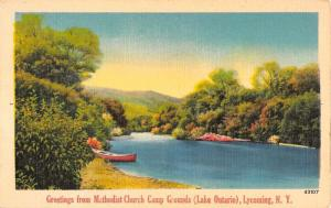Lycoming New York Methodist Church Camp Grounds Antique Postcard K95117