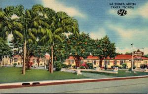 Florida Tampa La Fiesta Motel 1953 Curteich