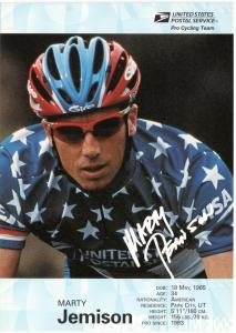 USPS Pro Cycling Team - Post Card - Marty Jemison - Mint