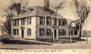 Concord Massachusetts 1906 Postcard The Old Wright Tavern